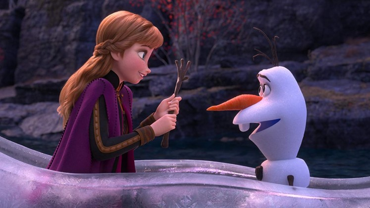 With Christmas films gone from theaters, 'Frozen II' reigns