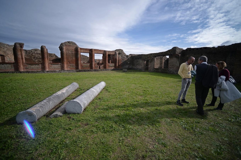 Pompeii's grand baths unveiled, with hidden tragedy