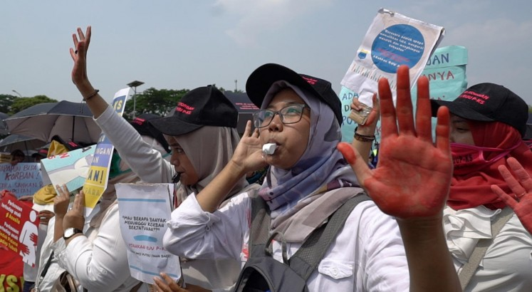 'Don't let us fight by ourselves': The women who fight to make Indonesia a safer place
