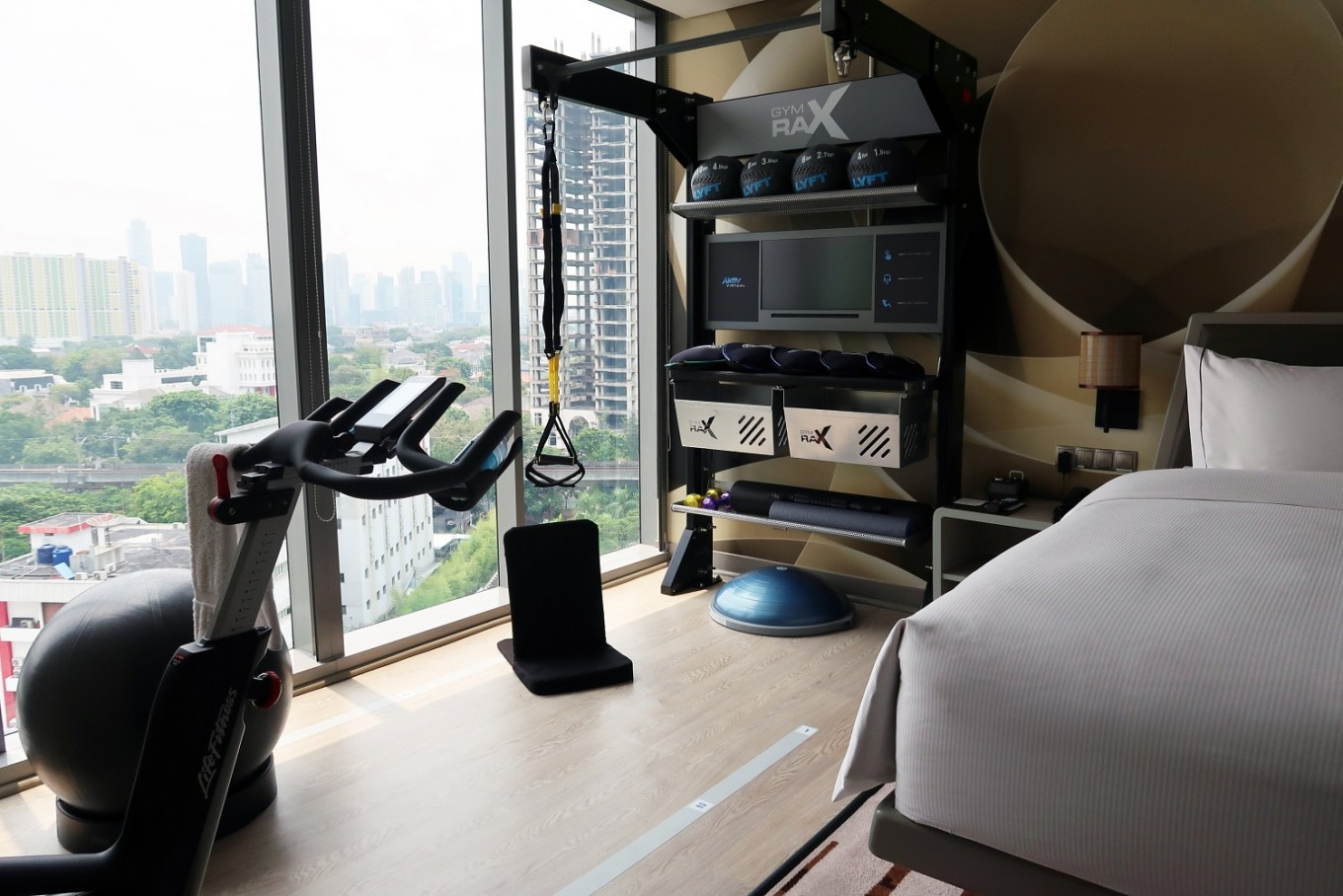 Feeling lazy?: Jakarta hotel offers fitness equipment in rooms