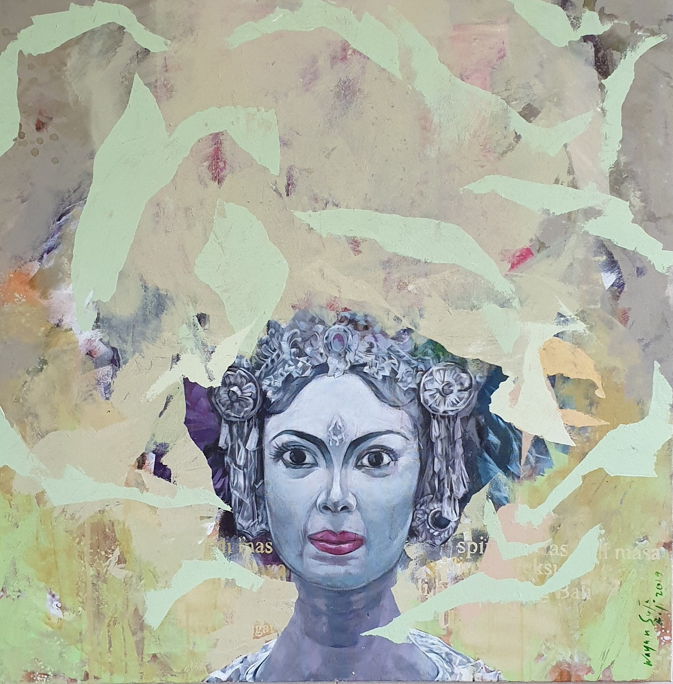 'Balinese Woman's Countenance', 2019 - Wayan Suja