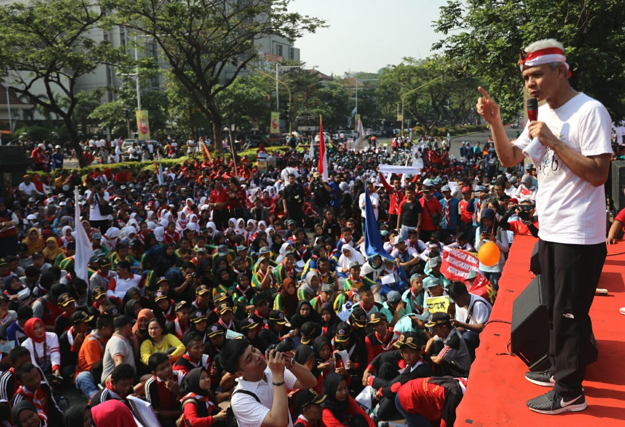 Central Java students take to streets to mark International Anticorruption Day