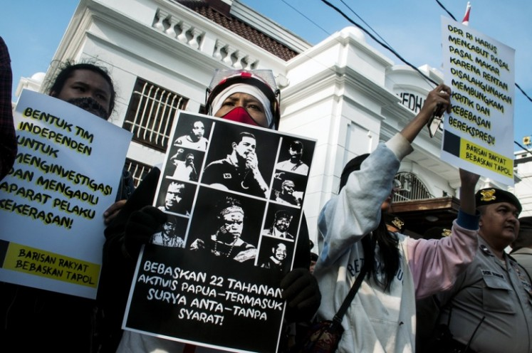 The way the Papuan problem is dealt with is a serious test for the nation — and Jokowi's second term in office. Indonesia's democracy is said to be at its lowest in 20 years. It's often the government apparatus that violates its own laws and tramples on the civil, political and human rights of its own people.