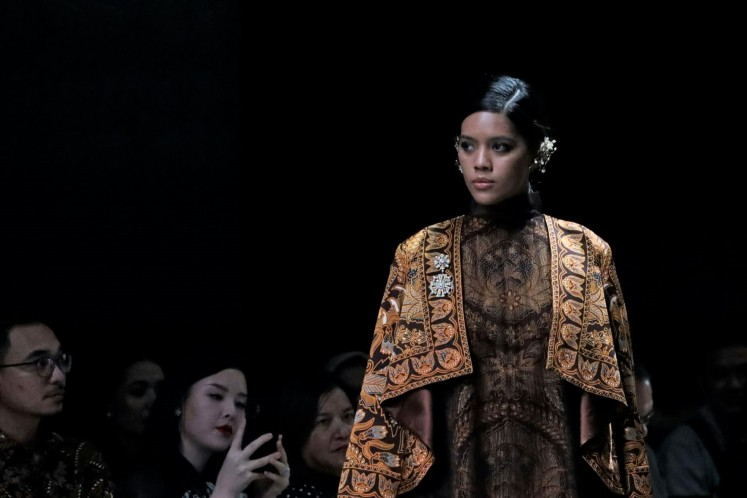 Tribute: The Iwan Tirta Private Collection's latest collection Mataguru is dedicated to the late maestro.