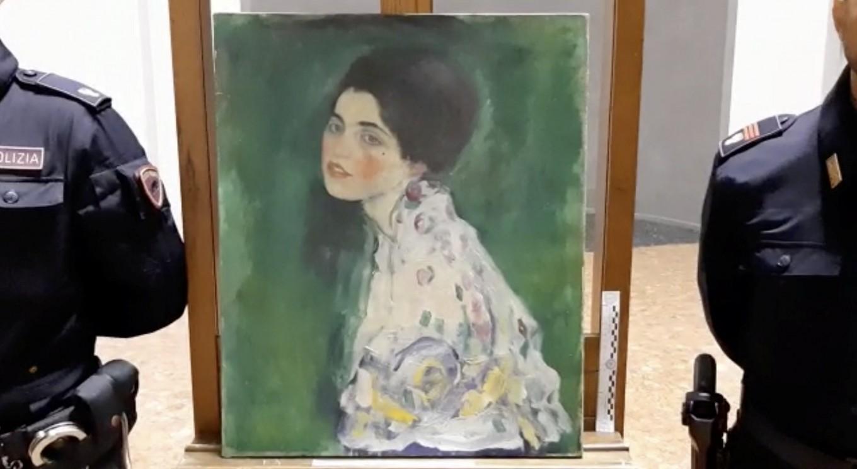 Italian police think stolen Klimt masterpiece found hidden behind ivy