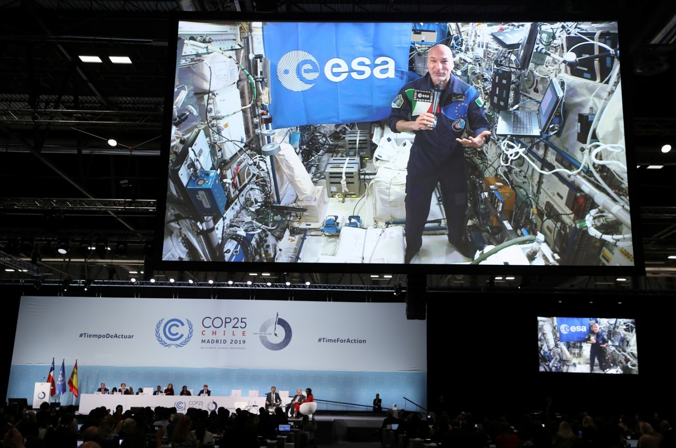 From space, Italian astronaut urges UN summit to save 'beautiful' Earth