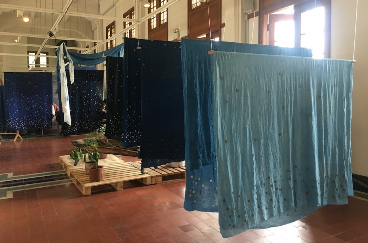 Indigo dyeing is featured at the