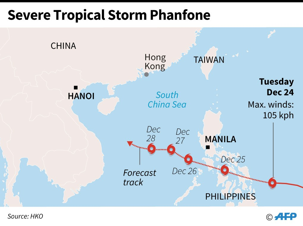 Tropical storm ruins Christmas for thousands of Filipinos