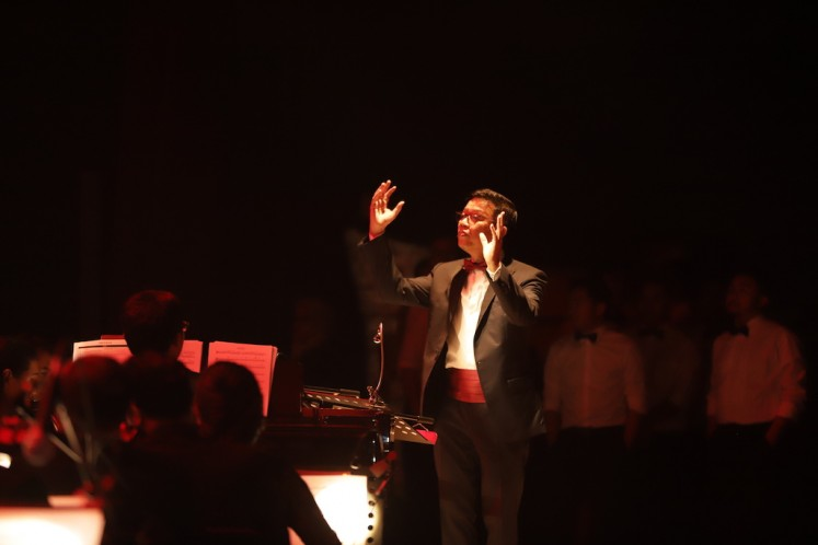 Night of music: Conductor Avip Priatna and his Jakarta Concert Orchestra perform Disney's favorite hits in a concert in Jakarta.
