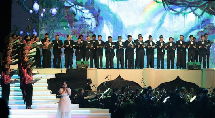 "Memorable: Jessica Januar performs Enchanted's ""True Love's Kiss"" with the Batavia Madrigal Singers choir ensemble."