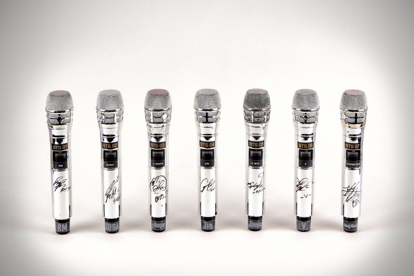 BTS signed microphones will go on auction to benefit MusiCares Charity