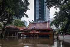Amurva Bhumi (Hok Tek Tjeng Sin) Buddhist temple in Karet Semanggi, Jakarta, as seen on Jan. 1. Antara/Aprillio Akbar