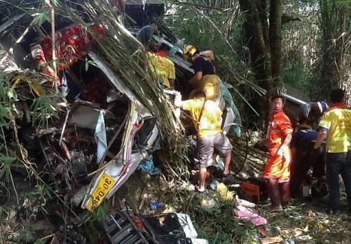 Bus crash kills 19, injures dozens on Myanmar-Thai border