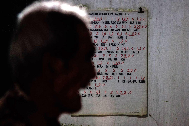 Dhandhangula Palaran, one of the sekar within 'Sekar Macapat', which has 11 sekar in total. JP/Anggertimur Lanang Tinarbuko