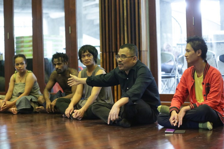 Brand new play: Director and playwrights Garin Nugroho (second right) talks about his first project for 2020 titled