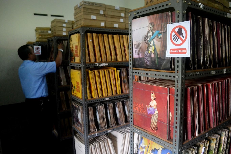 About 53,000 vinyl records are stored at Lokananta studio in Surakarta, Central Java.