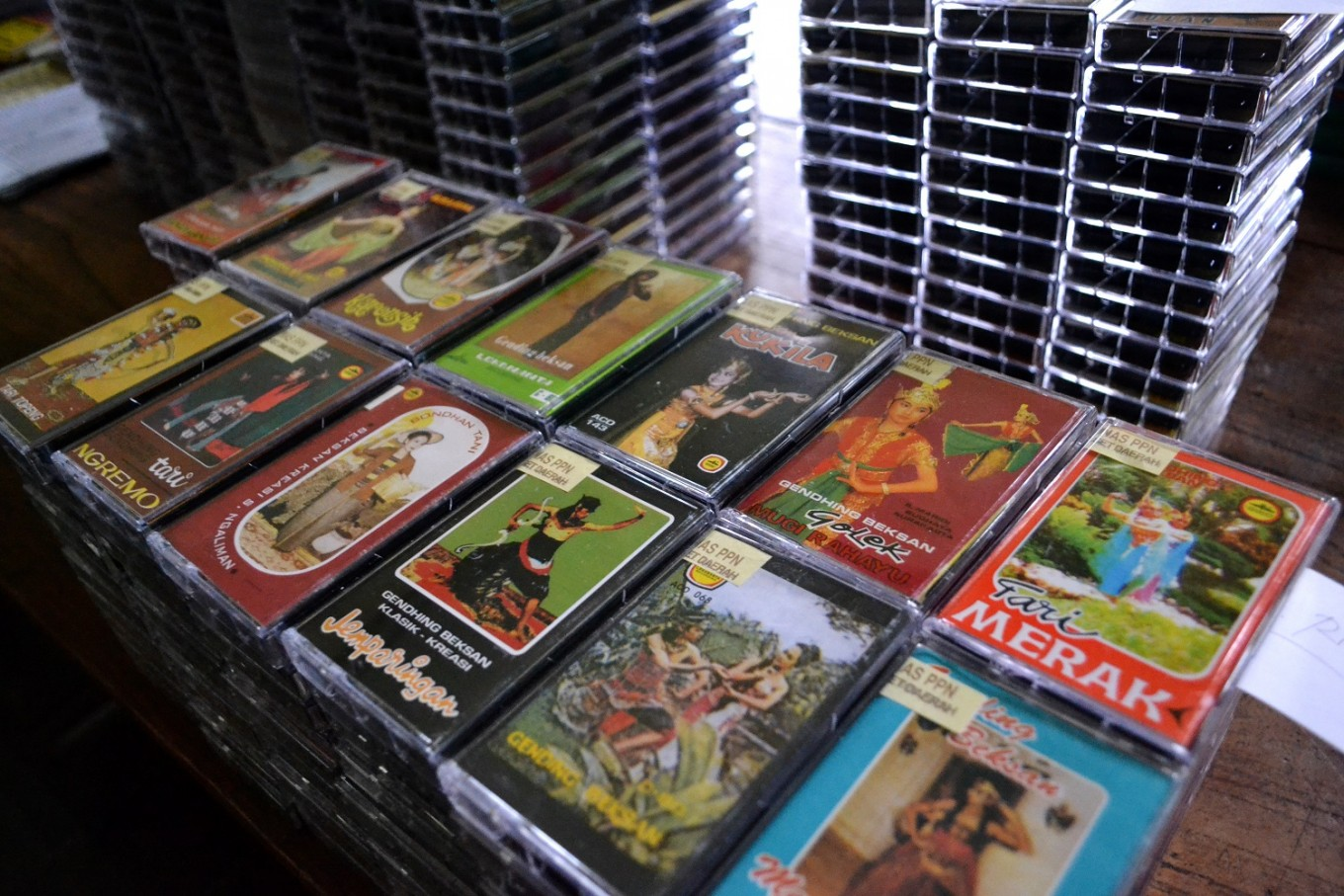 Cassette tapes feature traditional music.
