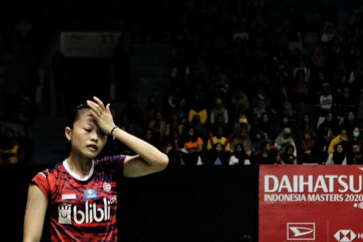 Big failure hits host's women's singles in Indonesia Masters badminton