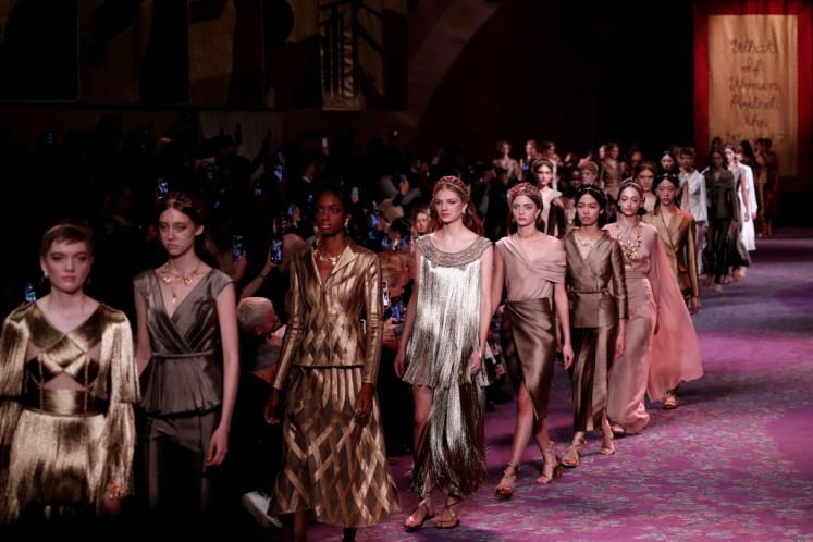 Dior Stuns Paris Fashion With Its Divine Feminism Lifestyle The Jakarta Post