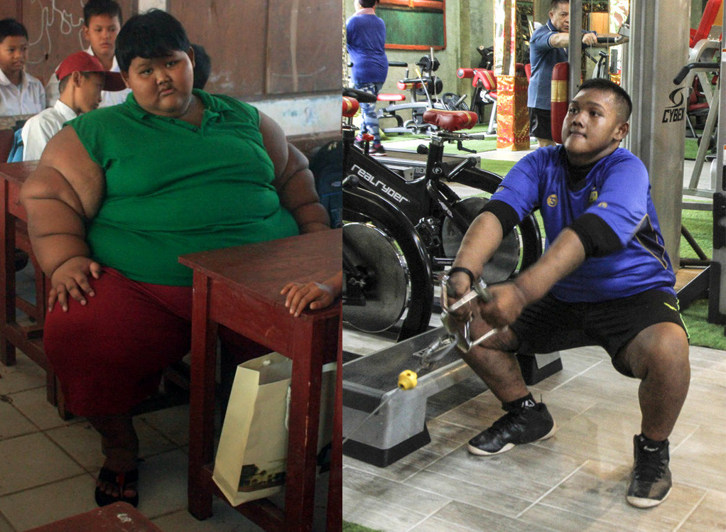 Indonesia's fattest kid loses 110 kg under Ade Rai's supervision