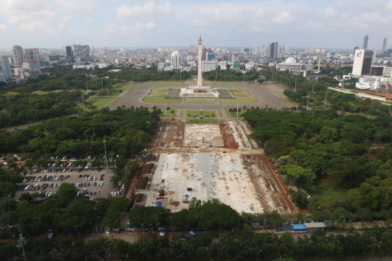 City under scrutiny over Monas revitalization, uprooting of hundreds of trees