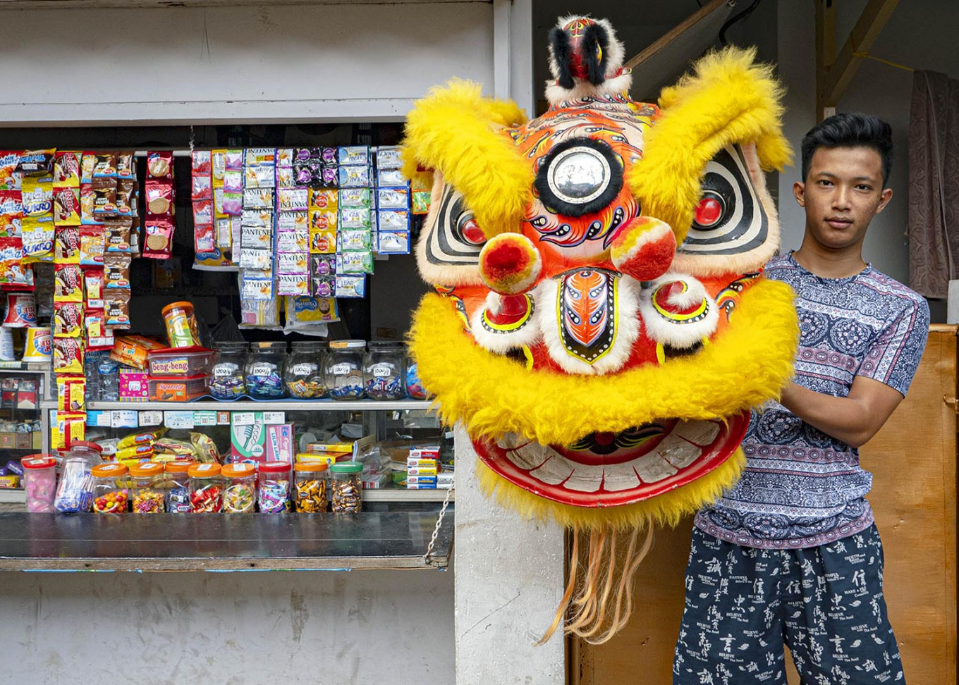 Steven grew up near the temple and wishes to preserve his family's tradition in performing the lion dance. JP/Bismo Agung