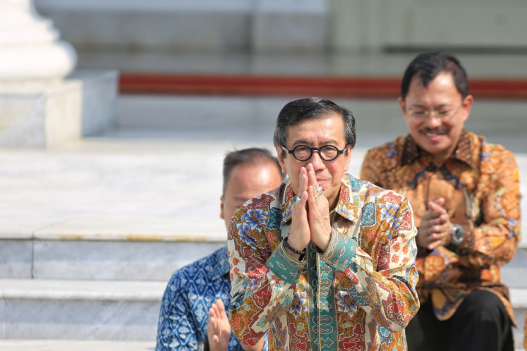 Questioned about Yasonna, Jokowi calls on ministers to be more careful when making public statements
