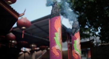 Burning incense: A bridge between the human and spirit world