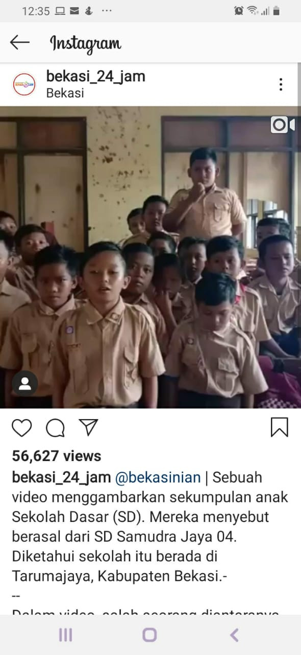 Bekasi students make plea for school renovation through viral video