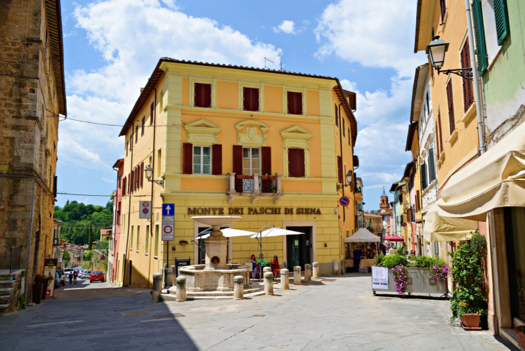 The medieval village of Asciano is located in the heart of the Crete Senesi in Tuscany.
