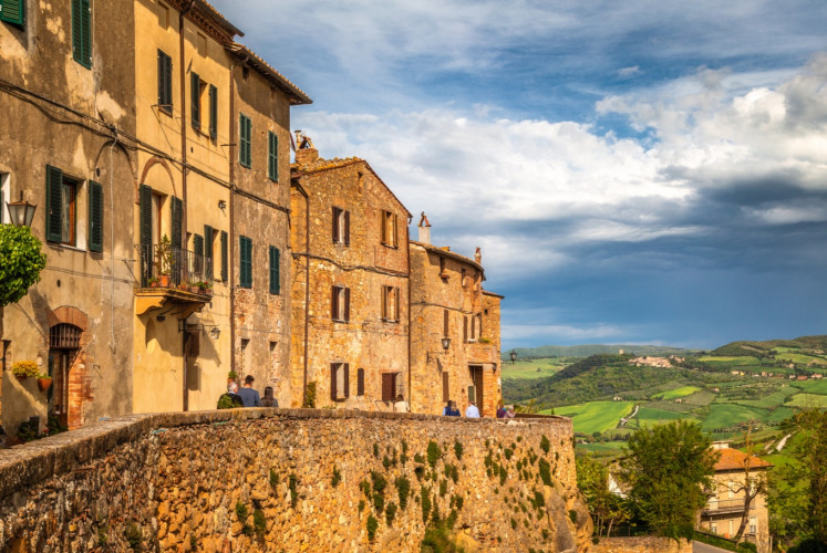 Pienza is a town in the province of Siena in Tuscany's Val d'Orcia.