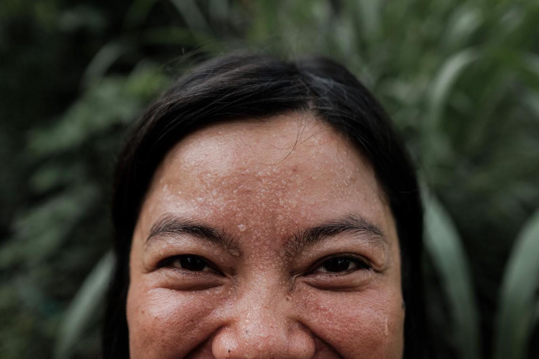 A volunteer named Ima joins the banyan tree planting at Lesung Hill, Buleleng, Bali. JP/Anggara Mahendra