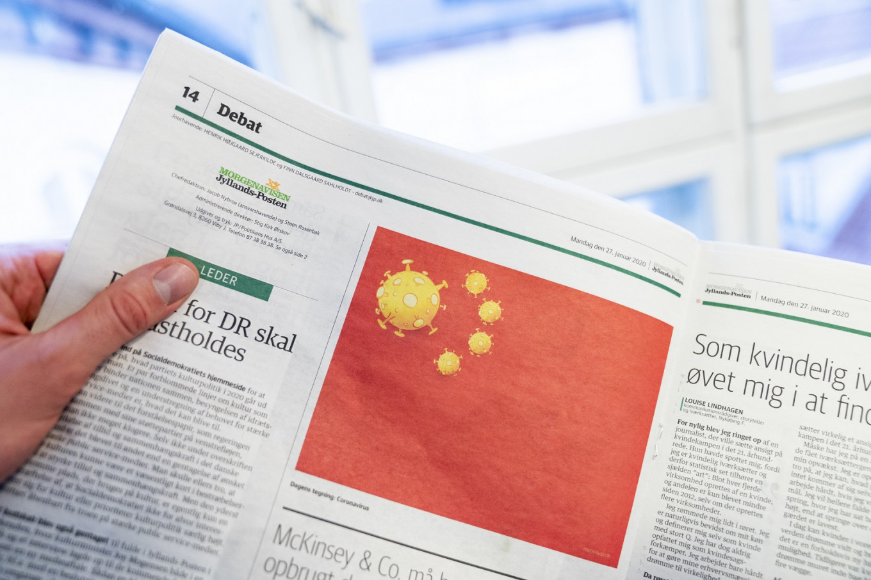 Danish newspaper's virus cartoon angers China