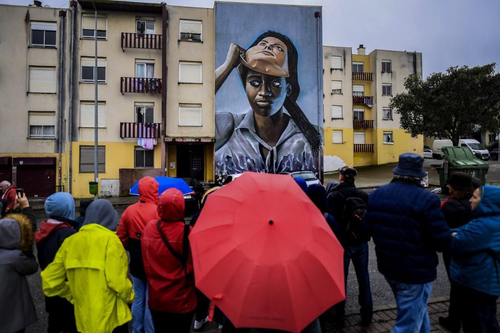 Street art creates a splash of new life for Lisbon barrio