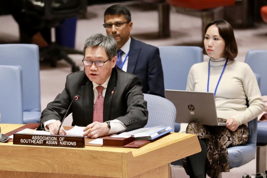 ASEAN secretary general addresses Security Council in historic first briefing
