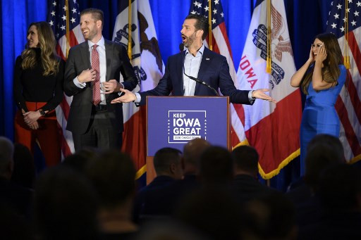 Trump sons invite themselves to Iowa in dig at Democrats