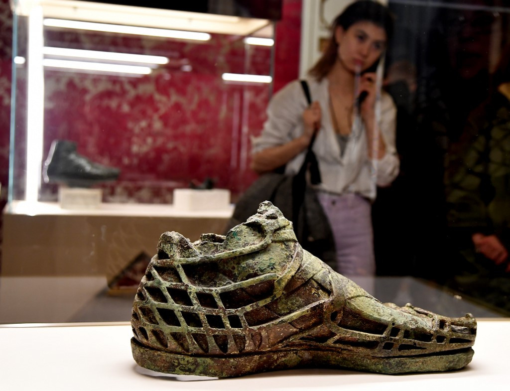 Shoes fit for the Gods go on display at Italy's Pitti Palace
