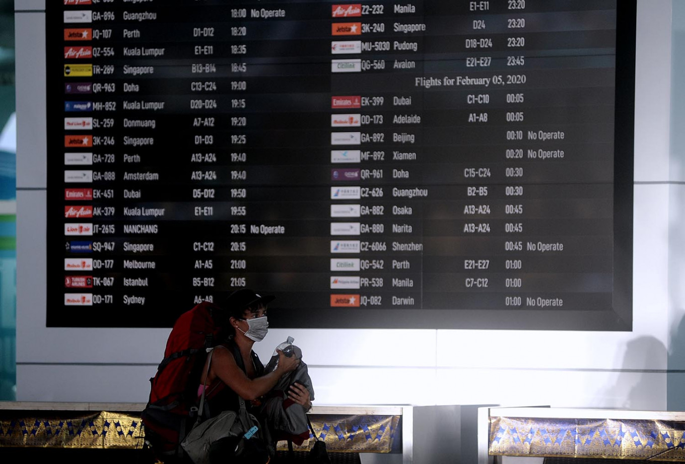 More than 12,000 flights canceled in two months over virus fears, says Angkasa Pura I