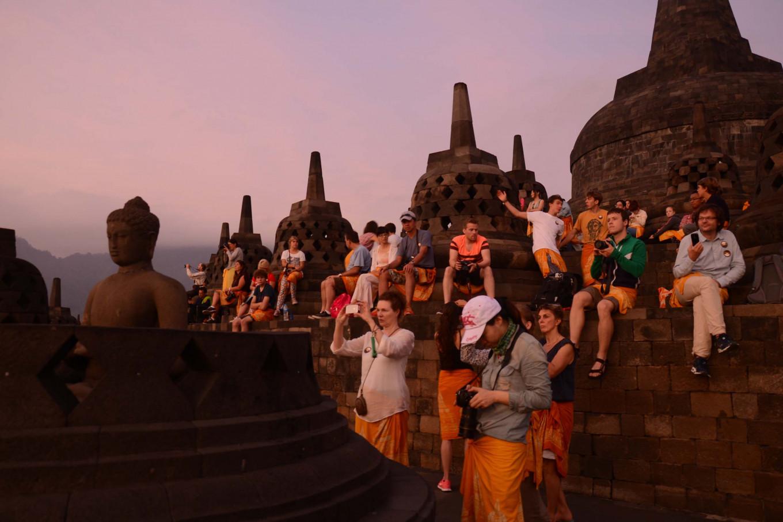 Borobudur temple temporarily closes level nine, 10 to public
