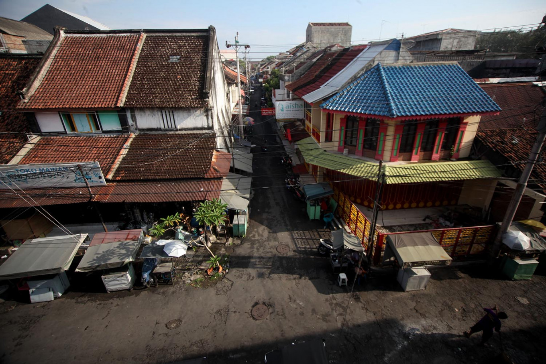 Kampung Ketandan as seen from the south side. JP/Boy T Harjanto