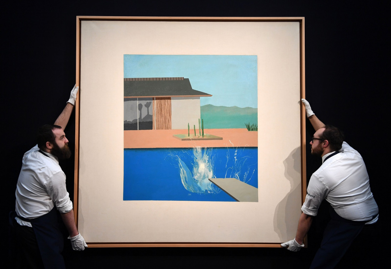 Hockney's pop art icon 'The Splash' sells for £23.1 million