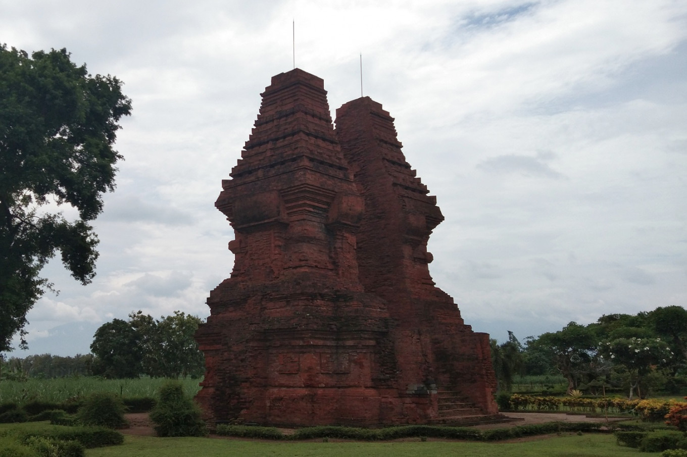 The Wringin Lawang gate is one of the few remaining structures of Trowulan, the capital of the Majapahit Empire.