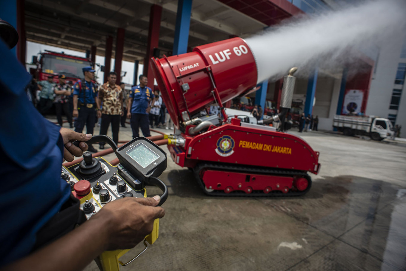 Jakarta purchases fire-fighting robot with plans to buy more