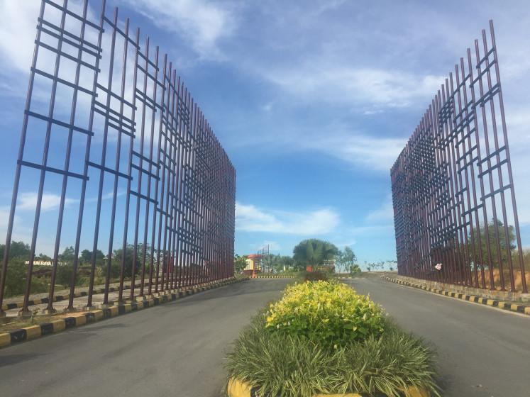 The road leading to the Batam Botanical Gardens in Batam, Riau Islands.