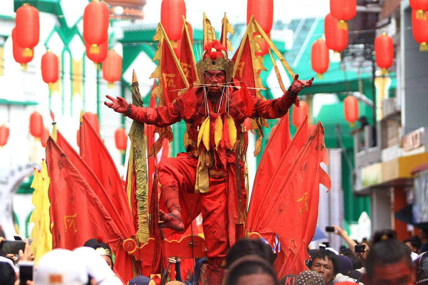 Tatung parade brings supernatural nuance to Cap Go Meh celebration