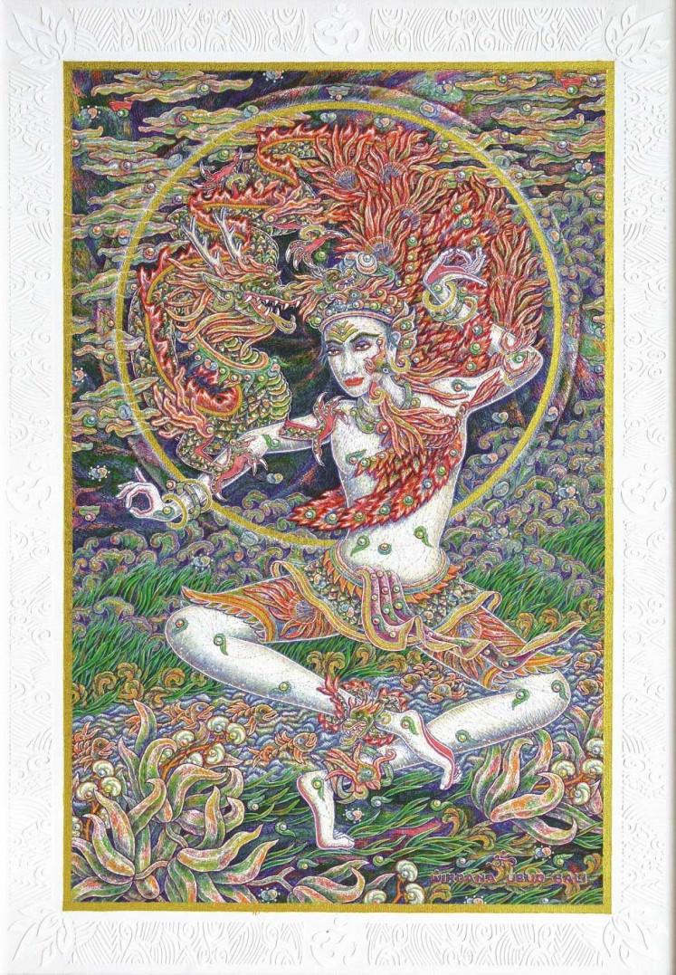 Balinese artist I Nyoman Wirdana's spectacular kaleidoscope of color and joy