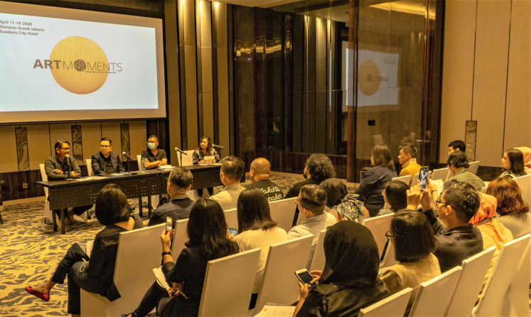 Meet the press: Organizers of the Art Moments Jakarta 2020 announce that the fair will return for its second edition in April at Sheraton Grand Jakarta Gandaria City in Jakarta.