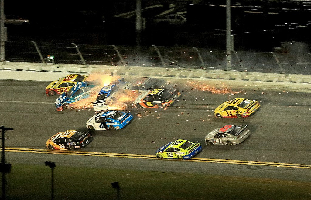Horror crash mars end of Daytona 500