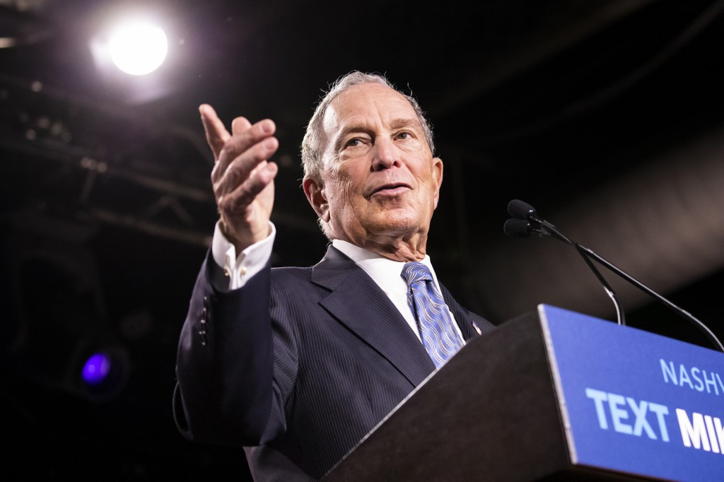 Democrats set sights on rising rival Bloomberg as debate looms