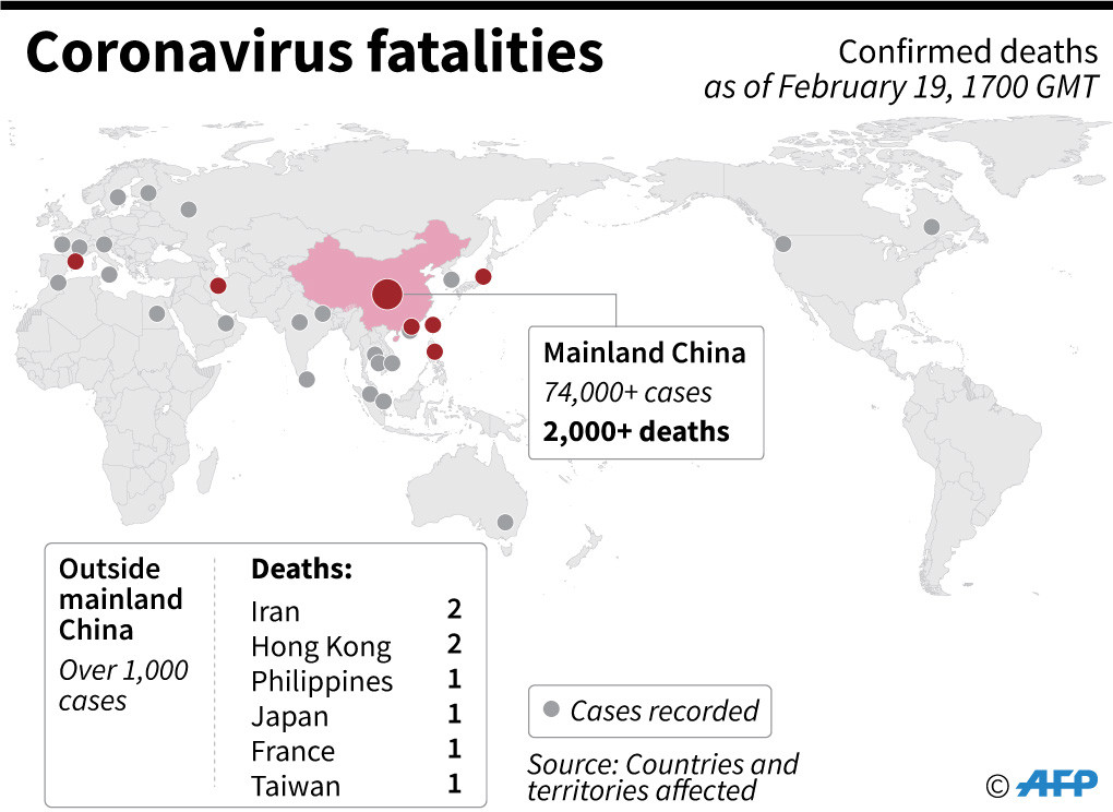 Three new coronavirus cases in Iran after two deaths